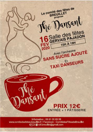 Comité des Fêtes de Breuillet - Thé Dansant du 16 Février 2020