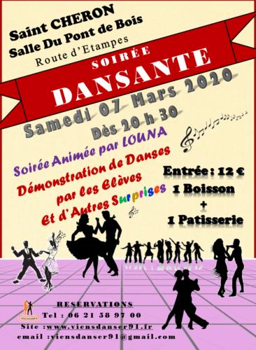 EVENEMENT : Samedi 07 Mars 2020 Soirée Dansante